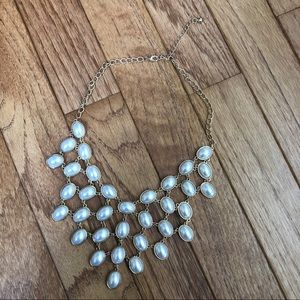 Charlotte Russe pearl fashion statement necklace